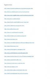 English Worksheets: English Websites
