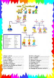 the simpsons family worksheets. Black Bedroom Furniture Sets. Home Design Ideas