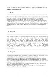 English Worksheets: writing material