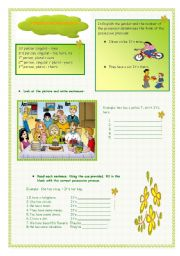 English Worksheet: POSSESSIVE PRONOUNS