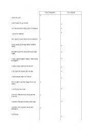 English Worksheet: Neither do I / So do I