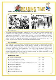 English Worksheet: THE ROMANS