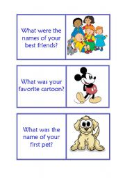 English Worksheet: Childhood was/were