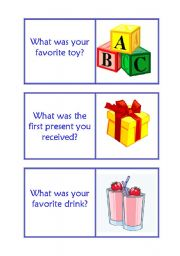 English Worksheets: 3d part Childhood ,was/ were