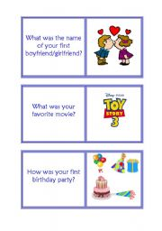 English Worksheet: 5th part childhood was,were