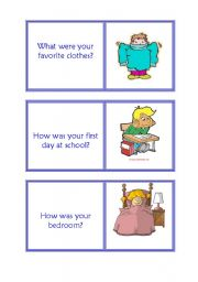 English Worksheets: 6th part childhood,was,were