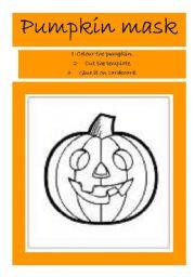Pumpkin mask for Halloween