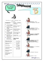 English Worksheet: Telephone Language