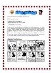English Worksheet: MAFALDA UPSIDE-DOWN PART 1