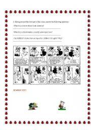 English Worksheet: MAFALDA UPSIDE-DOWN PART 2