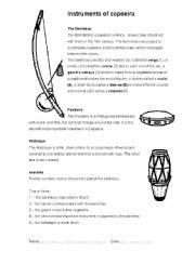 English Worksheets: the berimbau