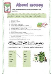 English Worksheets: About money