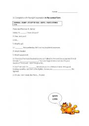 English Worksheets: Every day English