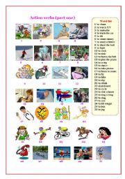 English Worksheets: Action verbs ( part 1 )