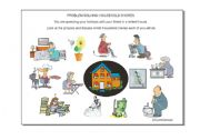 English Worksheets: Problem Solving: Household Chores