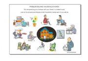 English Worksheet: Problem Solving: Household Chores
