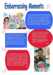 English Worksheets: Embarrassing moments