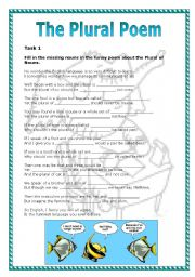 English Worksheets: The Plural Poem