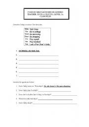 English Worksheets: ROUTINE (Writing Activity)