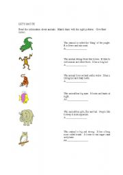 English Worksheets: LET�S MATCH