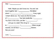 English Worksheet: Mad Libs-a love letter 2