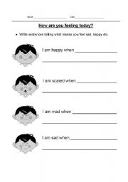 English worksheets: Feelings worksheets, page 153