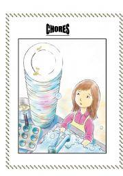 English Worksheets: CHORES- a tense worksheet