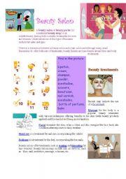 English Worksheets: Beauty Salon