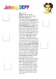 English Worksheets: johnny depp