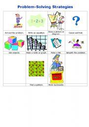 English Worksheets: Problem Solving Strategies
