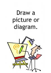 english worksheets  mathematics problem solving poster  draw a    english worksheet  mathematics problem solving poster  draw a picture or diagram