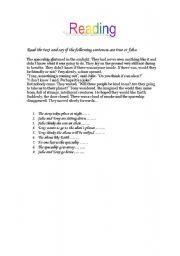 English Worksheets: Aliens