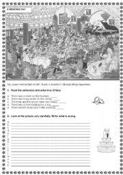 English Worksheet: A wedding day