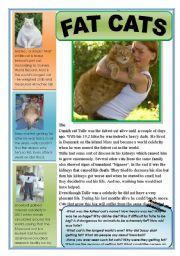 English Worksheet: Fat cats