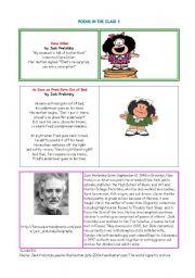 English Worksheet: POEMS 1