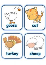 worksheets > The animals > Animals flashcards > FLASHCARDS SET 2- FARM ...
