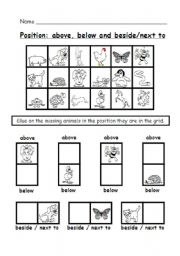 math worksheet : position worksheet 2  cutting and pasting activity 2 pages  : Kindergarten Positional Words Worksheets