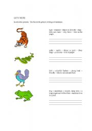 English Worksheets: LET�S WRITE