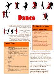 English Worksheets: Dance