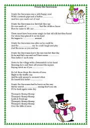 Song - Frosty the Snowman