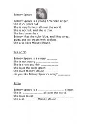 English Worksheets: id breatney spears