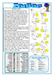 English Worksheets: ZODIAC AND ELEMENTS