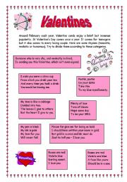 English teaching worksheets Valentines