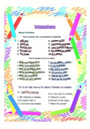 English Worksheets: Practice Intonations Part 1