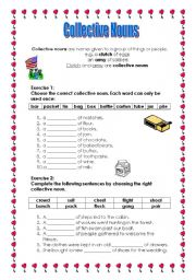 English Worksheets: Collective Nouns (Part 1)