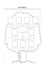 English Worksheets Family Tree