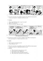 English Worksheet: Mafalda Cartoons
