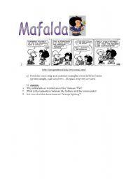 English Worksheet: Mafalda part 1