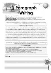 Printables Writing Paragraphs Worksheet english teaching worksheets paragraph structure writing
