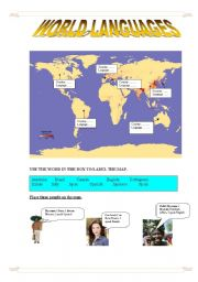 English Worksheets: World languages